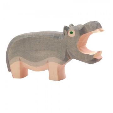 Hippopotame gueule ouverte