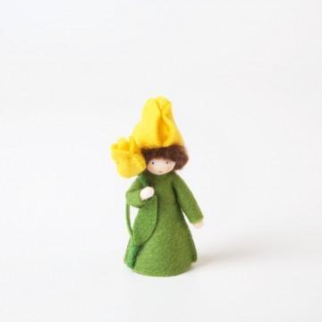 Fée Tulipe jaune, fleur à la main