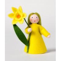 Narcisse, fleur à la main