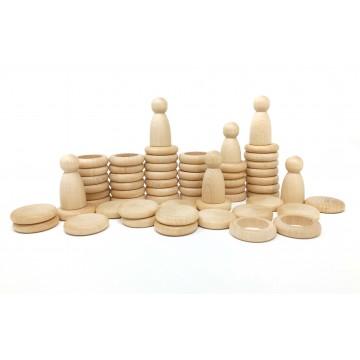 Nins®, anneaux et pièces- bois naturel