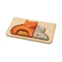"""Mon premier puzzle """"chat"""" Plan Toys"""