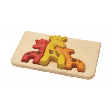 """Mon premier puzzle """"girafe"""" Plan Toys"""