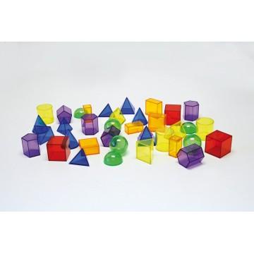 36 formes géométriques translucides