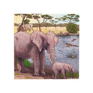 """Puzzle """"éléphants"""""""