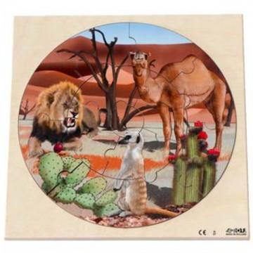 """Disque puzzle """"vie dans le désert"""""""