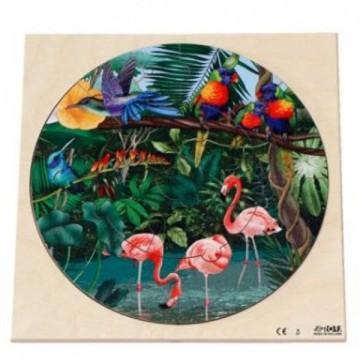 "Disque puzzle ""vie en Amazonie"""