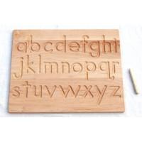 Carte à tracer alphabet en Français