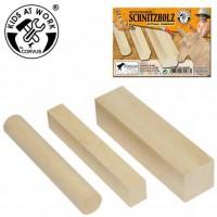 3 morceaux de bois à sculpter
