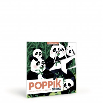 """3 puzzles stickers """" Animaux sauvages"""""""