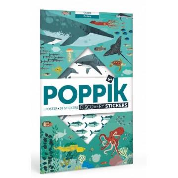 Poster+59 stickers : 6-12 ans Animaux des océans