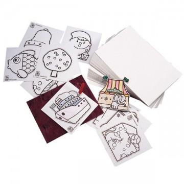 12 cartes à poinçonner