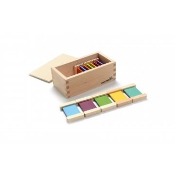 4ème boîte de tablettes de couleur en bois : arc en ciel