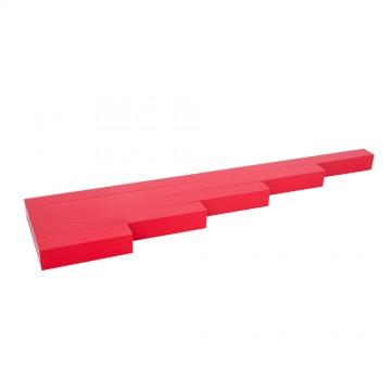 Barres rouges - 5 pièces