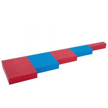 Barres rouges et bleues - 5 pièces