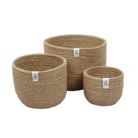 3 grands paniers en jute-Naturel
