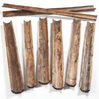 Rampe en bois naturel