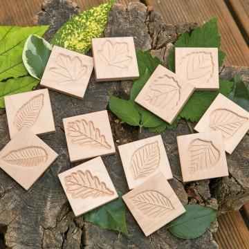 """Tablettes en bois """"feuilles"""""""