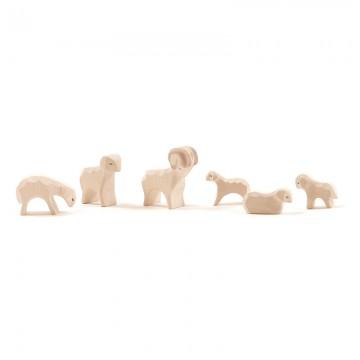 petites figurines : 6 moutons