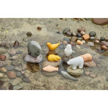 Jeu sensoriel : Animaux sculptés