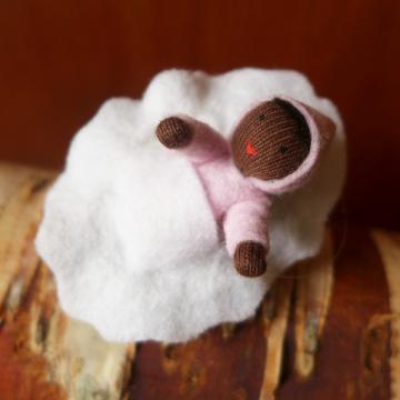 Bébé rose dans une noix-peau noire
