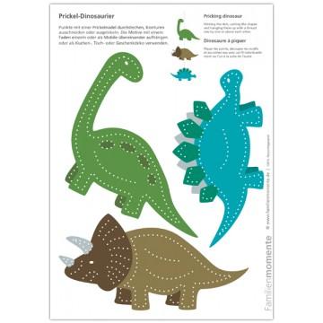 """Carte à poinçonner """"dinosaures"""""""