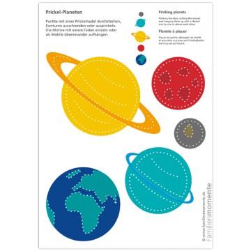 """Carte à poinçonner """"Planètes"""""""