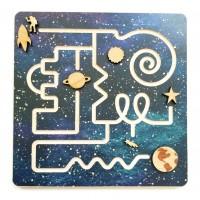 Pistes de pré-écriture : labyrinthe dans l'espace