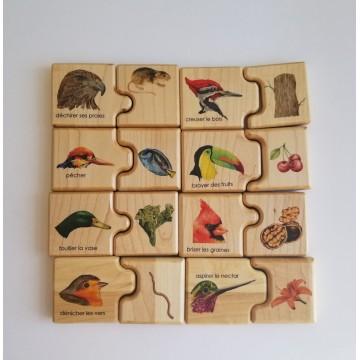 """Puzzle """"Les oiseaux et leur bec"""""""