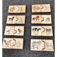 """Puzzle """"animaux de la ferme et leurs petits"""""""