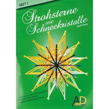 """Kit """"étoiles en paille"""" - 12 branches"""