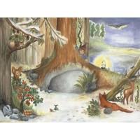 """Calendrier de l'Avent """" Noël chez les animaux"""""""