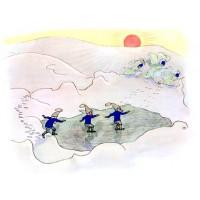 """Carte """"Les Nains patineurs"""""""