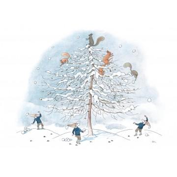 """Carte """"Les écureuils"""""""