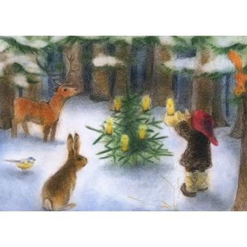 """Carte """"Noël dans la forêt"""""""