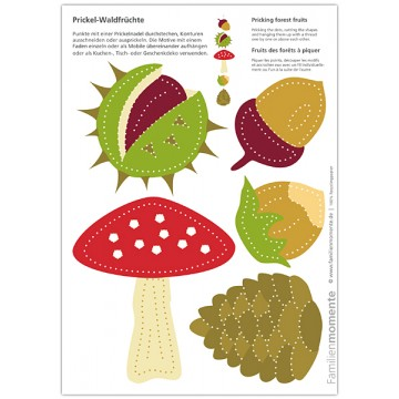 "Carte à poinçonner ""Fruits de la forêt"""