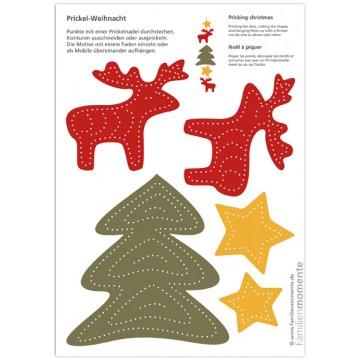 "Carte à poinçonner ""Noël"""