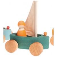 1 bateau à voile coloré