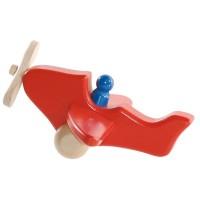 Avion rouge avec un personnage