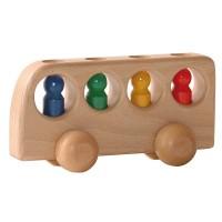Bus avec 4 personnages - bois naturel