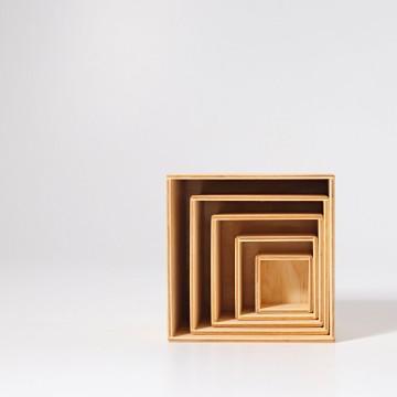 Ensemble de 6 boîtes-bois naturel