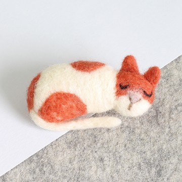 Kit de feutrage : broche chat