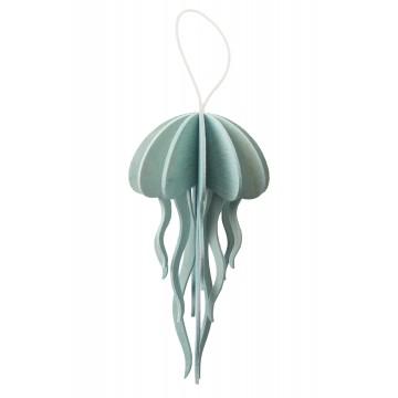 Méduse bleue claire