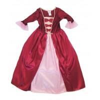 Robe royale bordeaux : 5-7 ans