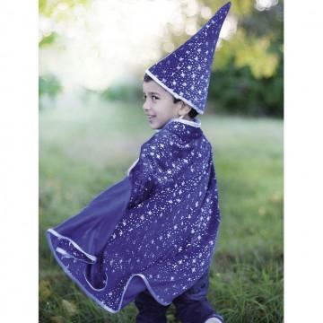 Cape de magicien pailletée avec chapeau : 4-7 ans