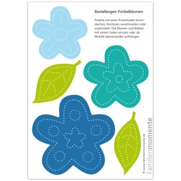 """Carte à poinçonner """"Fleurs bleues"""""""
