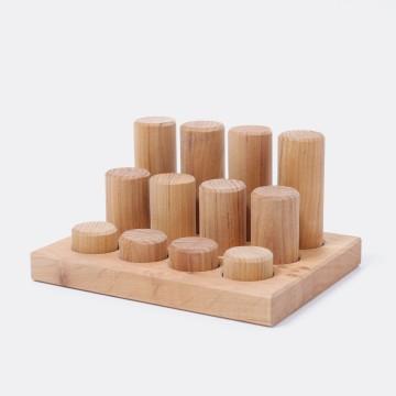 Encastrements : cylindres bois naturel