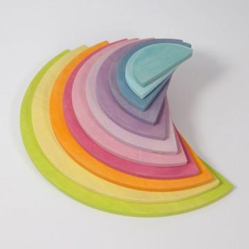 Demi-disques pastel