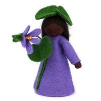 Violette, fleur à la main - peau noire