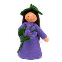 Violette, fleur à la main - peau claire