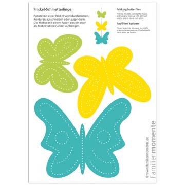 """Carte à poinçonner """"papillons -1"""""""